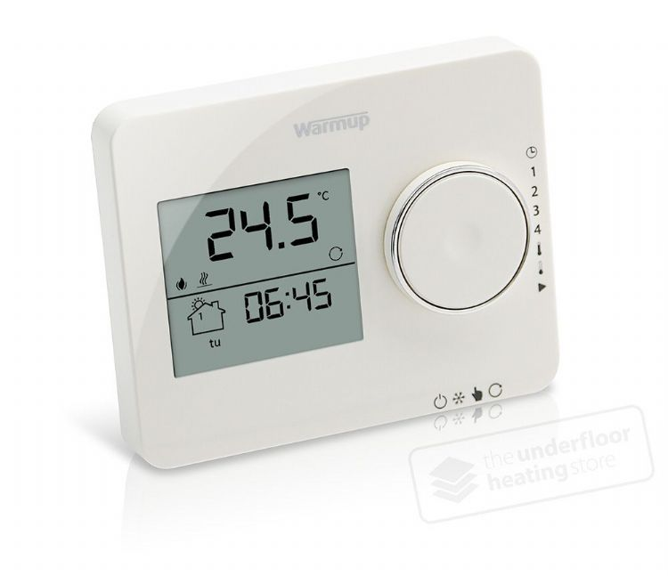Warmup - Tempo Porcelain White Thermostat